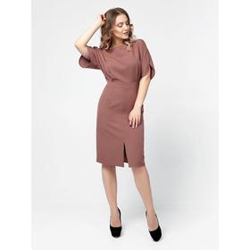 Платье-футляр женское, размер 42, цвет красно-коричневый