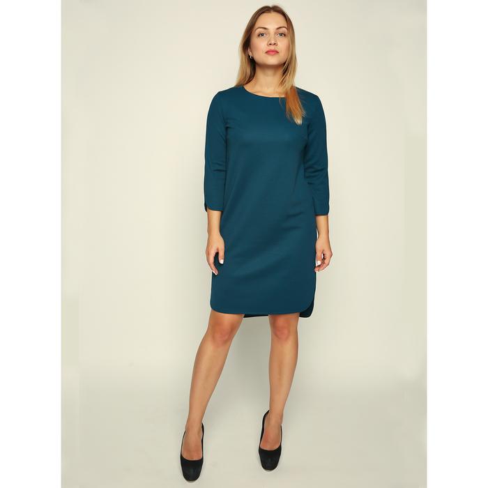 Платье женское, размер 42, цвет морская волна