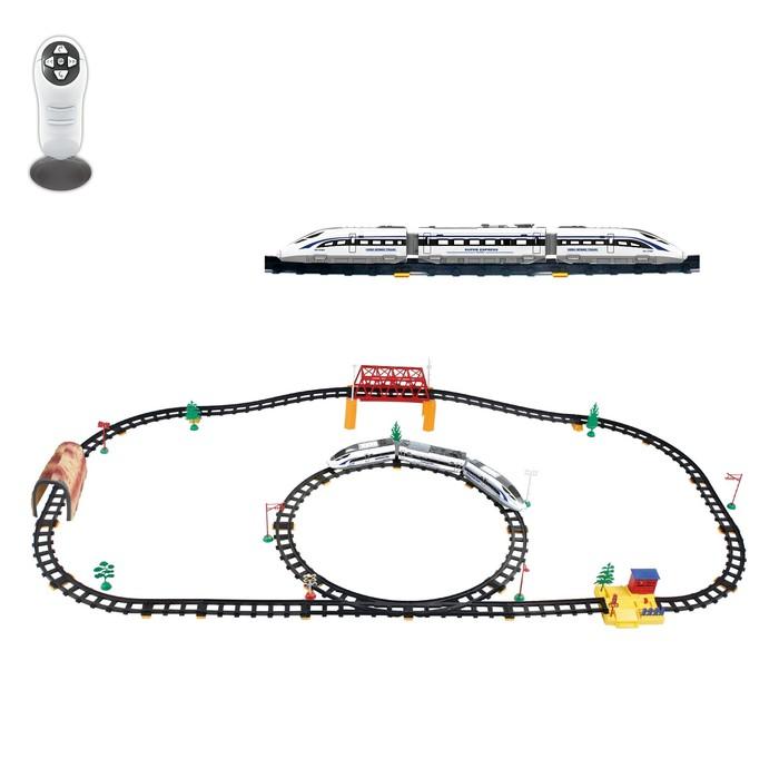 Железная дорога «Скорый поезд», радиоуправление, световые эффекты