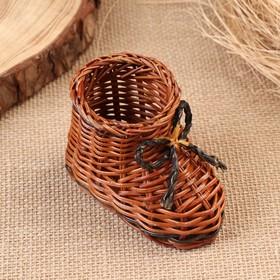 Сувенир «Ботинок», 10×7 см, лоза Ош