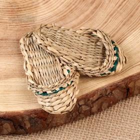 Сувенир «Тапочки», 7 см, сыть Ош