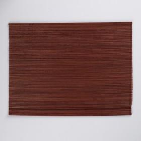 Салфетка плетёная, коричневая, 30×40 см, бамбук Ош