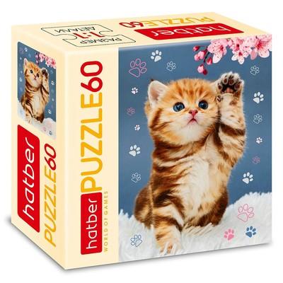 Пазл 60 элементов «Котёнок с цветком» - Фото 1