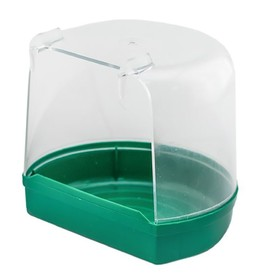 Купалка для птиц, внешняя, малая, прозрачная, 12 х 9 х 11 см, микс цветов Ош