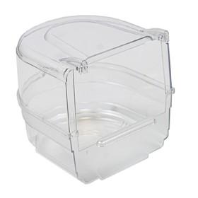 Купалка для птиц, внешняя, прозрачная, 13 х 14 х 13 см Ош
