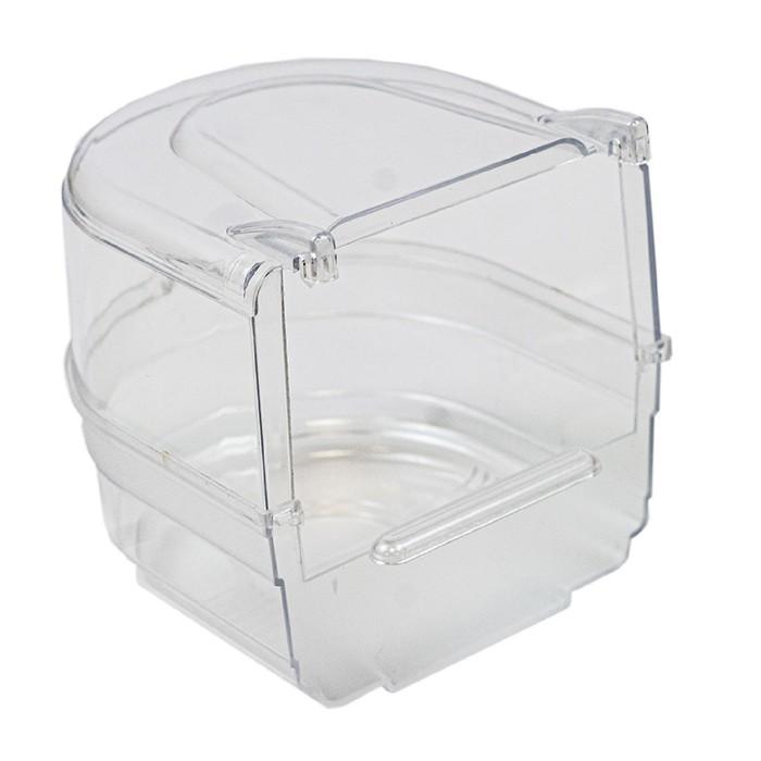 Купалка для птиц, внешняя, прозрачная, 13 х 14 х 13 см