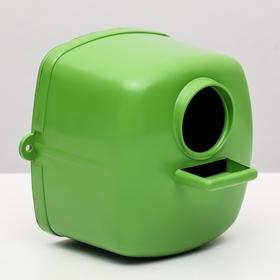 Скворечник/гнездо для птиц пластиковый, 10 х 10 х 10 см, микс цветов Ош
