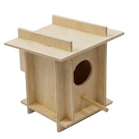 Скворечник для птиц в клетку, фанера, малый, 12 х 12 х 14 см Ош