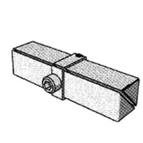 Удлинитель квадратный, (901/В), 20*20мм с полкодержателем, цвет хром Ош