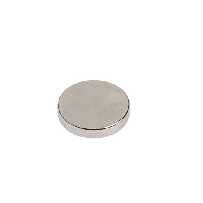 Неодимовый магнит REXANT, диск 10х2 мм, сцепление 1 кг, 14 шт.