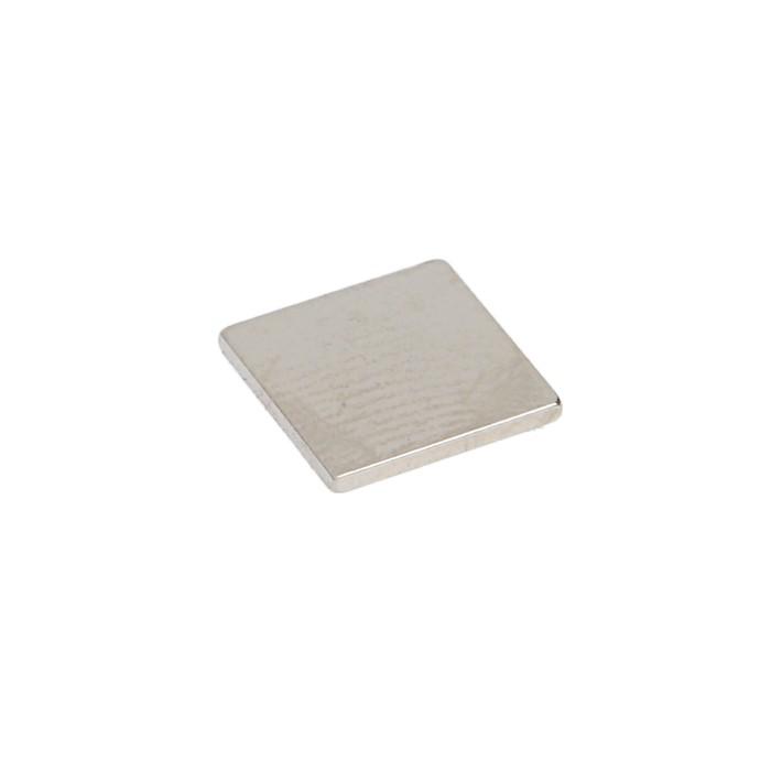 Неодимовый магнит REXANT, прямоугольник 10х10х1 мм, сцепление 0.6 кг, 10 шт