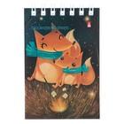 Блокнот А7, 40 листов на гребне «Волшебные лисы», мелованный картон, микс из 5 видов - Фото 2