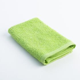 Полотенце махровое «Экономь и Я» 30х30 см, цвет ярко-зелёный Ош