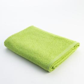 Полотенце махровое Экономь и Я 70х130 см, цв. ярко-зелёный, 340 г/м²