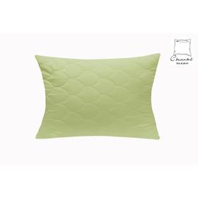 Подушка Бамбук 2-камерная 70х70 см, зелёный, файбер, микрофибра, п/э 100%