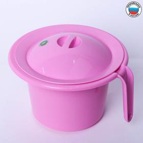 Горшок детский 'Кроха' с крышкой, цвет розовый Ош