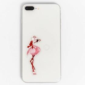Наклейки на телефон «Розовый фламинго», 8 × 14 см Ош