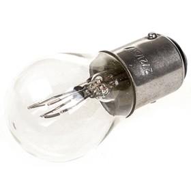 Лампа автомобильная P21W, 12В 21Вт, c цоколем ВА15s, Спутник, Skyway,