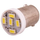 Лампа светодиодная T8,5(T4W), 12В 5 SMD диодов, с цоколем BA9S Skyway,