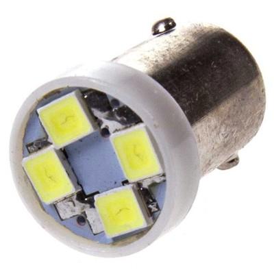 Лампа светодиодная T8,5(T4W), 24В, 4 SMD диодов, с цоколем BA9S Конус Skyway,
