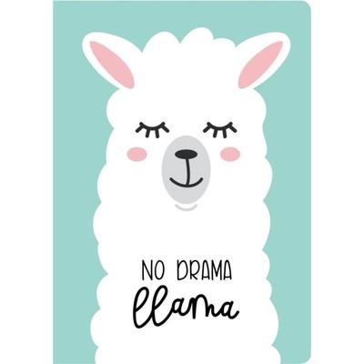 Блокнот А4, 40 листов на склейке «Лама. No drama», мягкая обложка, круглые углы, блок в точку - Фото 1