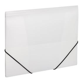 Папка на резинке А4, 500 мкм, BRAUBERG Office, белая Ош