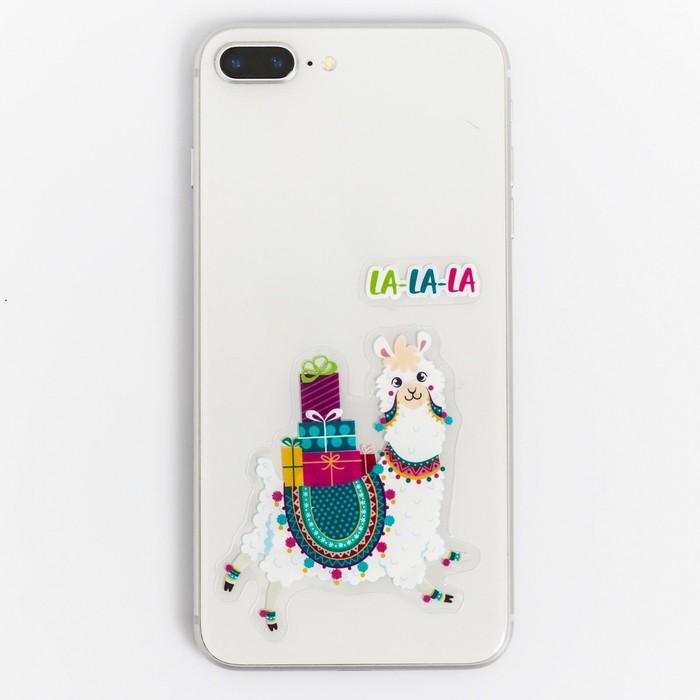 Наклейки на телефон Снежная лама, 8  14 см