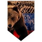"""Вымпел пятиугольный Skyway """"Медведь"""", 100х150, флаг, 1 шт"""
