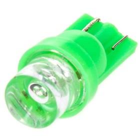 Лампа светодиодная T10(W5W), 24В, 1 диод без цоколя Конус Зелёная Skyway,
