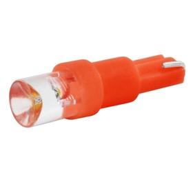 Лампа светодиодная T5(W1,2W), 12В 1 диод без цоколя красная Skyway,
