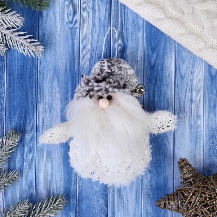 Мягкая игрушка Дед Мороз - пушистик 814 см белый