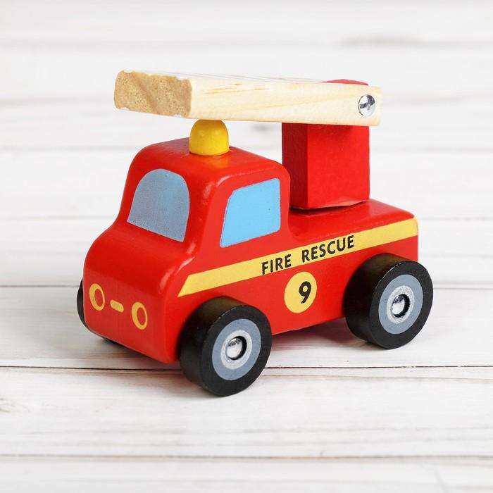 Игрушка дерево Автомобили МИКС