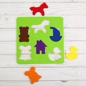 Логическая головоломка «Мои игрушки» из фетра Ош