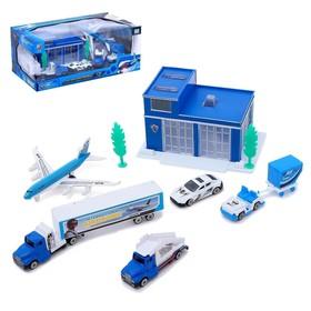Набор игровой «Аэропорт» с металлическими машинами, МИКС