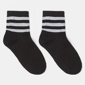 Носки детские, цвет чёрный, р-р 22-24 Ош
