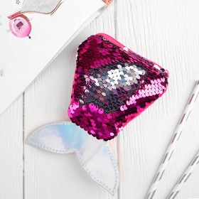 Кошелёк «Хвост русалки», пайетки, цвет серебряно-малиновый Ош