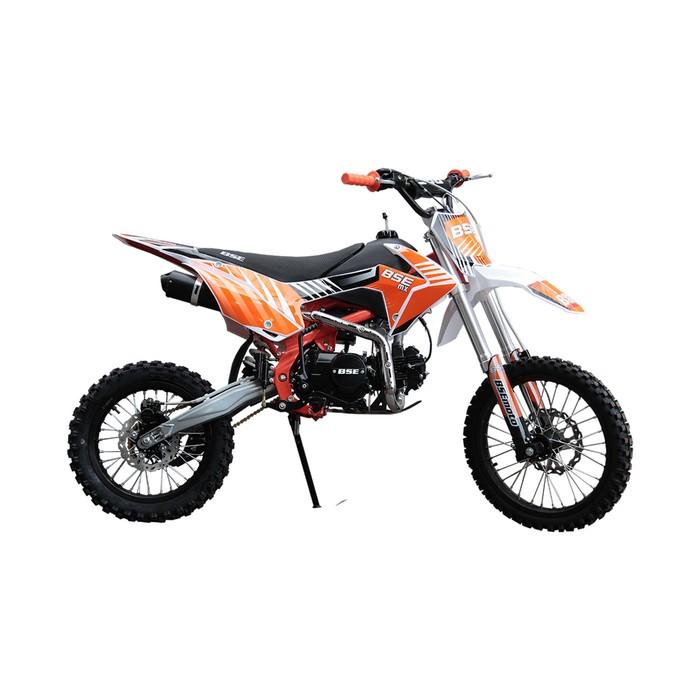 Питбайк BSE MX-125 17/14, фильтрбокс, счетчик моточасов, алюминиевые обода, оранжевый
