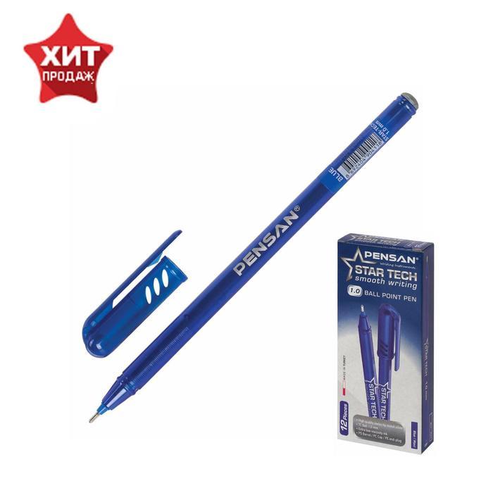 """Ручка шариковая масляная Pensan """"Star Tech"""", чернила синие, игольчатый узел 1 мм, линия письма 0,8 мм"""
