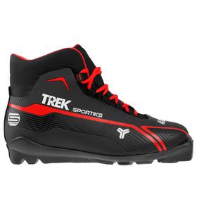 Ботинки лыжные TREK Sportiks SNS ИК, цвет чёрный, лого красный, размер 36