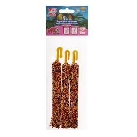 Палочки Seven Seeds Эконом для птиц, витамины/орех/абрикос, 3 шт, 75 г Ош