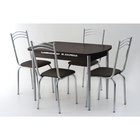 Комплект «Вегас NEW», стол 1100(1450) × 700 × 750 мм, 4 стула, цвет венге