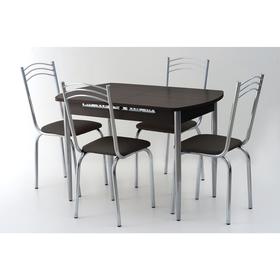 Комплект «Вегас NEW», стол 1100(1450) × 700 × 750 мм, 4 стула, цвет венге Ош