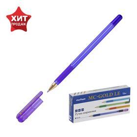 Ручка шариковая MunHwa MC Gold LE, узел 0.5 мм, чернила синие, резиновый упор, корпус микс
