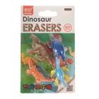 Набор ластиков фигурных 4 штуки Динозавры МИКС