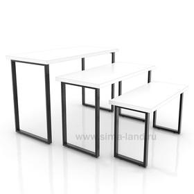 Столешница для стола (1200х600), цвет белый (подстолье приобретается отдельно) Ош