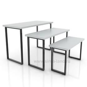 Столешница для стола (1200х600), цвет серый (подстолье приобретается отдельно) Ош