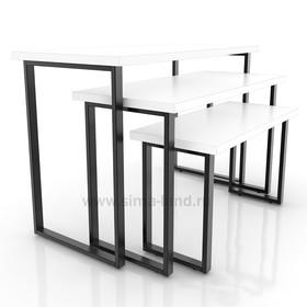 Столешница для стола (1050х500), цвет белый (подстолье приобретается отдельно) Ош