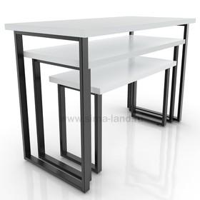 Столешница для стола (1050х500), цвет серый (подстолье приобретается отдельно) Ош