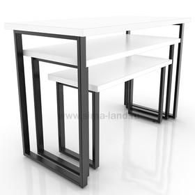 Столешница для стола (900х400), цвет серый (подстолье приобретается отдельно) Ош