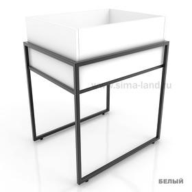 Накопитель высокий, цвет белый (каркас стола приобретается отдельно) Ош